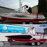 2004 Mastercraft gets new vinyl graphics wrap Mastercraft X series