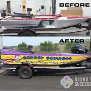 3M Wrap on sprint Boat, race boat wrap