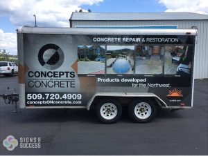 Construction Trailer Wrap for Concepts On Concrete