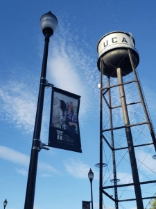 custom school pole banners at Upper Columbia Academy