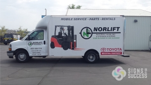 van wraps spokane, fleet advertising graphics and wraps match across any make or model Norlift