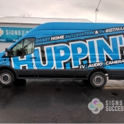 Large Ford Transit Van Vinyl Wrap for Huppin's Electronics