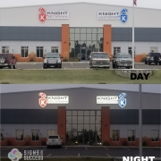 Custom LED illuminated Signs day and night for Knights