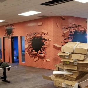 3D wall wrap design, 3D wall mural