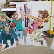 Custom Standees for URM Food Show