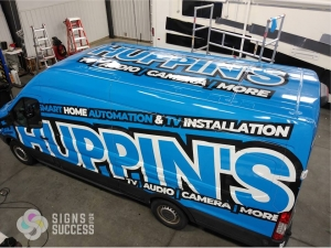 van wrap graphics for Huppin's in Spokane