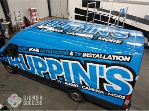 van wrap graphics for Huppin's in Spokane