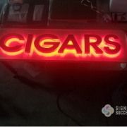 Custom Red LED Halo Lit Channel Letters
