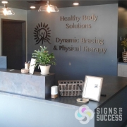 dimensional letters, dimensional logo for Healthy Body Solutions office reception signs