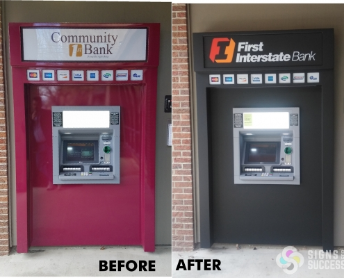 rebranding wrap for ATM cash machine wrap