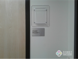 exam room custom ADA sign meets specifications