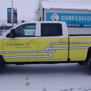 Partial pickup wrap for fire district 10
