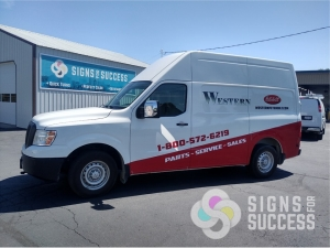 partial van wrap, custom van wrap spokane saves time and money