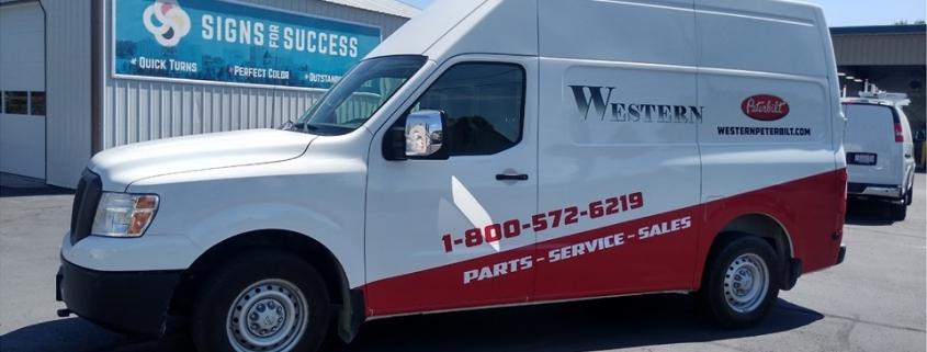 partial van wrap, custom van wrap spokane saves time and money