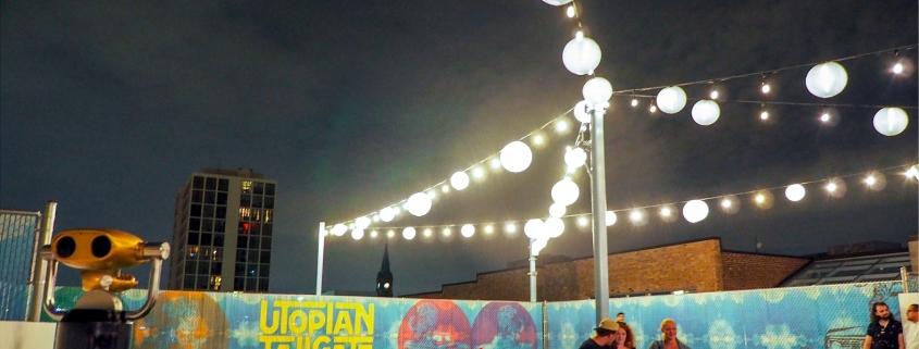 Chainlink Fence Slats for Utopian Tailgate Restaurant Chicago