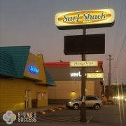 Digitally Printed backlit faced for Surf Shack Burgers