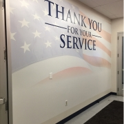 Wall Mural thanks vets for service
