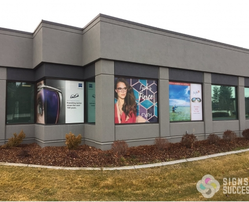 window wrap window graphics at Spokane Eye Clinic
