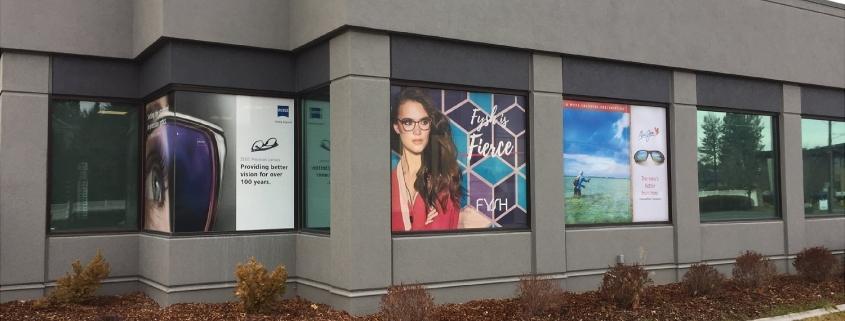 window wrap window graphics at Spokane Eye Clinic