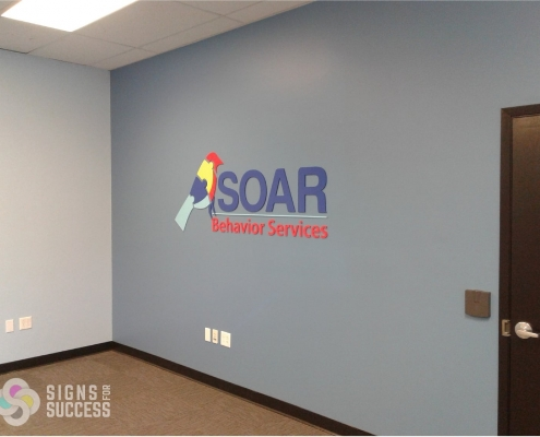 multi-color logo lobby sign custom lobby sign