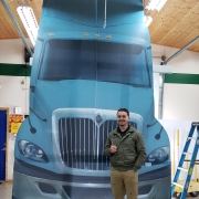 Semi Truck Standee cut out full sized