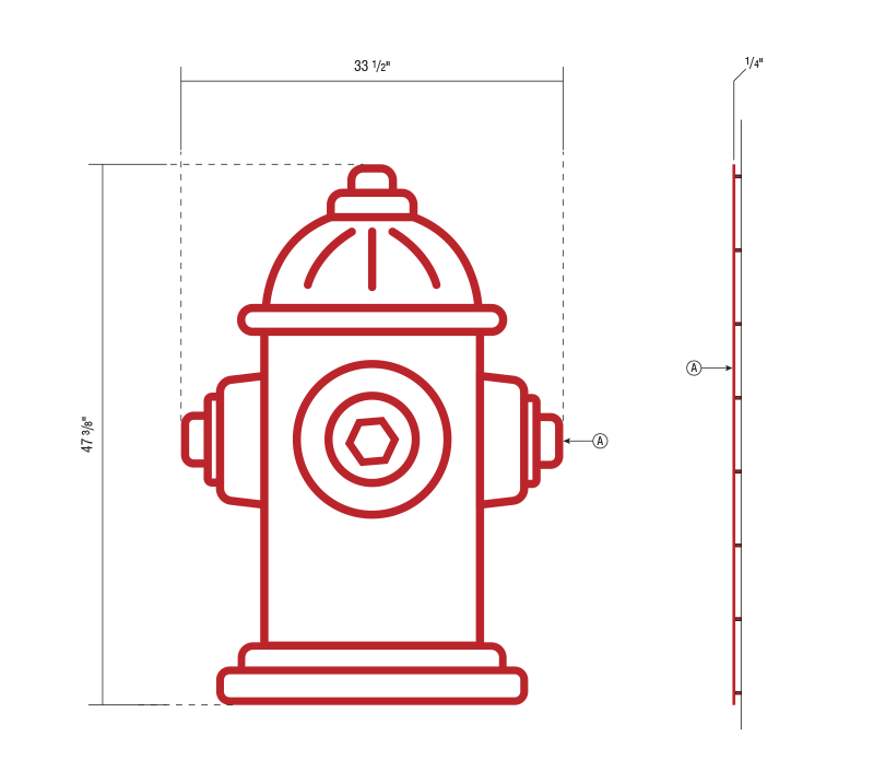 Fire Hydrant Design Acrylic